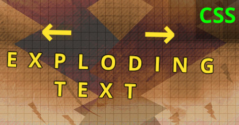 Exploding text animation, CSS