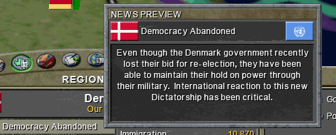 Denmark becomes a dictatorship.