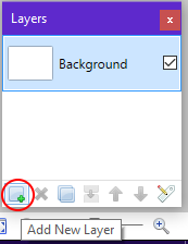 Screenshot of the new layer button in Paint.NET