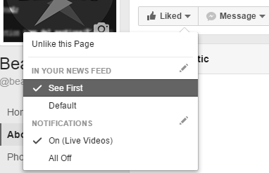 How to check See First on Facebook pages.