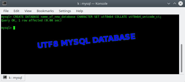 Creating a MySQL Database With UTF8 | MySQL | Beamtic