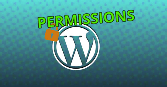 Changing directory permissions for Wordpress.